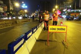 Hà Nội lắp dải phân cách cứng cho tuyến buýt nhanh BRT