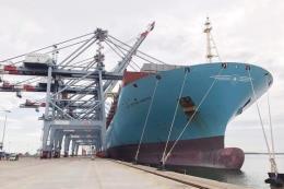 Margrethe Maersk - tàu container lớn nhất cập cảng Việt Nam từ trước đến nay