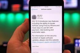 Apple cập nhật bản iOS 10.3: Chụp ảnh và ghi dữ liệu iPhone nhanh hơn
