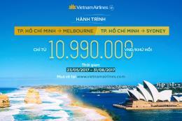 Vietnam Airlines ưu đãi đặc biệt chặng Tp. Hồ Chí Minh - Sydney
