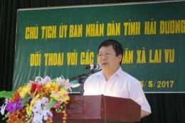 Hải Dương đối thoại với người dân về việc doanh nghiệp dệt xả thải gây ô nhiễm môi trường