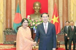 Chủ tịch nước Trần Đại Quang tiếp Chủ tịch Quốc hội Bangladesh