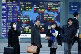 Hầu hết các sàn chứng khoán châu Á đi theo sắc xanh trên Phố Wall