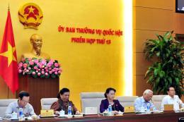 Phiên họp thứ 13, Ủy ban Thường vụ Quốc hội khóa XIV: Cho ý kiến 2 dự án Luật