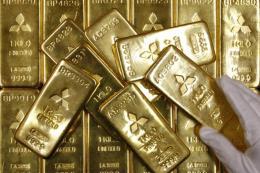 Giá vàng châu Á trượt xuống mức thấp của hai tuần