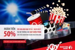 Hoàn tiền đến 500.000 đồng khi xem phim tại CGV, Lotte Cinema, BHD và Galaxy