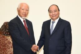 Thủ tướng Nguyễn Xuân Phúc tiếp cựu Chủ tịch Tập đoàn Taisei