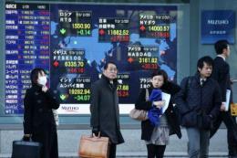 Sắc xanh chi phối thị trường chứng khoán châu Á