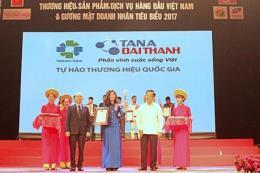 """Tân Á Đại Thành nằm trong Top 10 """"Thương hiệu, Sản phẩm, Dịch vụ hàng đầu Việt Nam"""""""