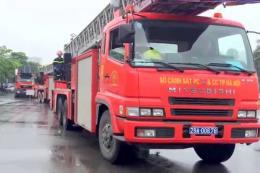 Cháy tại phường Cổ Nhuế 2, Hà Nội