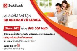 Hoàn tiền lên tới 30% giá trị thanh toán khi mua sắm tại Adayroi và Lazada