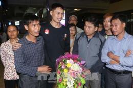 Các thuyền viên Việt Nam được cứu tại Philippines đã về nước