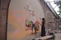 Bích họa phố Phùng Hưng: Khắc họa ký ức về Hà Nội xưa