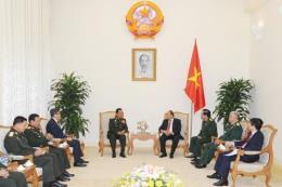 Thủ tướng Nguyễn Xuân Phúc tiếp Bộ trưởng Bộ Quốc phòng Lào