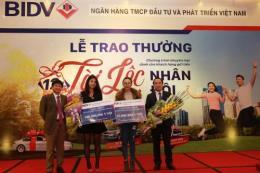 BIDV trao giải thưởng 500 triệu đồng cho khách hàng may mắn