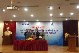 Thông tấn xã Việt Nam và VNPT ký kết thỏa thuận hợp tác