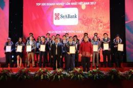 """SeABank lần thứ 8 liên tiếp lọt """"Top 500 doanh nghiệp lớn nhất Việt Nam"""""""