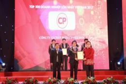 C.P. Việt Nam đứng thứ 16/500 doanh nghiệp lớn nhất Việt Nam