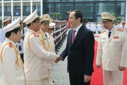 Chủ tịch nước dự Lễ kỷ niệm 70 năm Lực lượng Hậu cần - Kỹ thuật Công an nhân dân