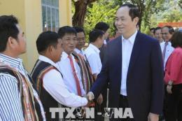 Chủ tịch nước Trần Đại Quang: Phấn đấu để cuộc sống mỗi người dân ngày càng tốt đẹp hơn