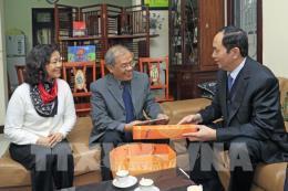 Chủ tịch nước Trần Đại Quang thăm, chúc Tết các trí thức tiêu biểu của Hà Nội