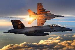 Rơi máy bay tiêm kích F-18 của Hải quân Mỹ