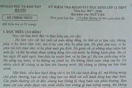 Đề thi thử THPT Quốc gia môn Ngữ Văn của Sở GD-ĐT Hà Nội