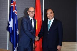 Thủ tướng Nguyễn Xuân Phúc tiếp lãnh đạo một số doanh nghiệp Australia đầu tư vào Việt Nam