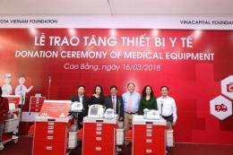 Toyota Việt Nam trao tặng thiết bị y tế cho các bệnh viện tỉnh Cao Bằng