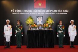 Lễ viếng và mở sổ tang tưởng nhớ nguyên Thủ tướng Phan Văn Khải tại Thái Lan, Indonesia