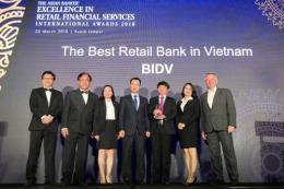 BIDV lần thứ tư nhận giải Ngân hàng bán lẻ tốt nhất Việt Nam