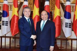 Thủ tướng Nguyễn Xuân Phúc tiếp Tổng thống Hàn Quốc