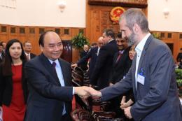 Thủ tướng Nguyễn Xuân Phúc tiếp đoàn doanh nghiệp Hội đồng kinh doanh Hoa Kỳ - ASEAN