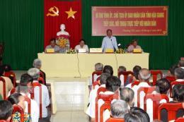 Bí thư và Chủ tịch Hậu Giang đối thoại trực tiếp với người dân