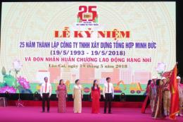 Công ty TNHH Xây dựng tổng hợp Minh Đức đón nhận Huân chương Lao động hạng Nhì