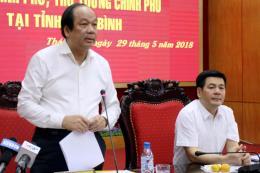 Kiểm tra việc thực hiện nhiệm vụ, kết luận, chỉ đạo của Chính phủ tại Thái Bình