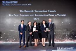 BIDV nhận liên tiếp 2 giải thưởng uy tín từ The Asian Banker