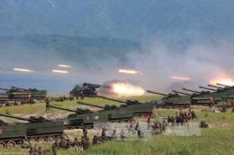 Báo chí Hàn Quốc: Triều Tiên vừa tập trận quy mô lớn trên biển