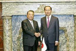 Chủ tịch nước Trần Đại Quang hội kiến Chủ tịch Hạ viện Nhật Bản Tadamori Oshima
