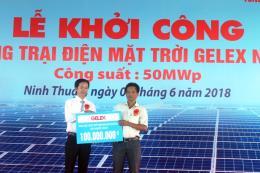 Khởi công dự án Trang trại điện mặt trời Gelex có vốn đầu tư 1.300 tỷ đồng