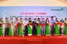 Vietcombank tài trợ xây dựng trường tiểu học ở Bến Tre