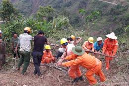 EVN tiếp tục khắc phục sự cố điện do mưa lũ tại một số tỉnh miền núi phía Bắc
