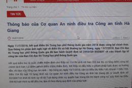 Khởi tố hình sự vụ điểm thi bất thường tại Hà Giang
