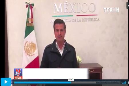 Tổng thống Mexico trấn an người dân sau trận động đất kinh hoàng