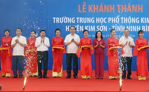 Chủ tịch nước Trần Đại Quang dự khánh thành trường học tại Ninh Bình