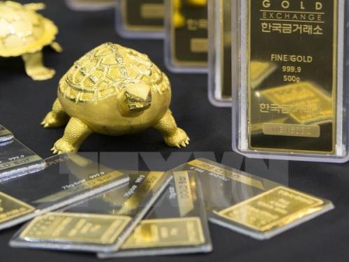 Thị trường vàng châu Á thận trọng trước thềm cuộc gặp Mỹ -Trung tại Hội  nghị G20. Ảnh minh họa: TTXVN