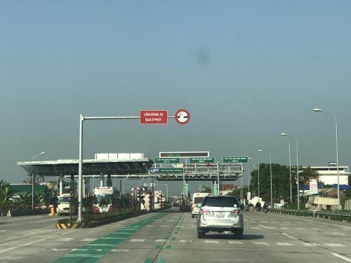 Trạm thu phí dự án BOT Quán Toan - Cầu Nghìn do TASCO đầu tư. (Ảnh: Quang Toàn/BNEWS/TTXVN)