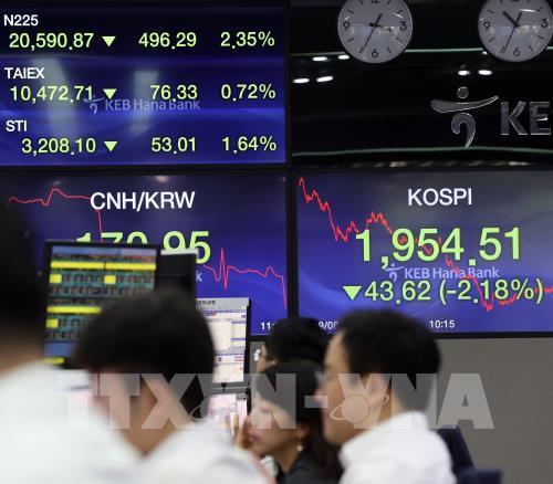 Hầu hết các thị trường chứng khoán châu Á giảm điểm trong phiên 17/9