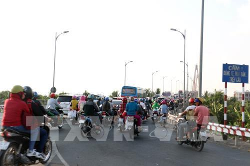 Cấm ô tô tải từ 3 trục trở lên lưu thông qua cầu Rạch Miễu hai ngày cuối tuần