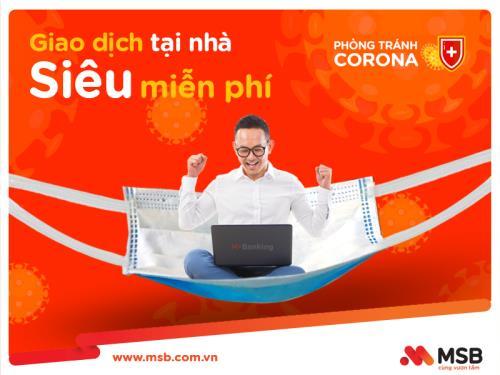 Dịch COVID-19: Ngân hàng tiếp tục ưu đãi cho giao dịch trực tuyến